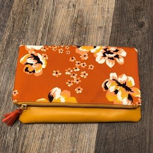 Rachel Pally Fold Over Floral Reversible Clutch